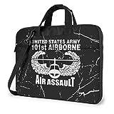 US Army 101st Airborne Air Assault Bolso para computadora portátil Bolso de Hombro Bolso para computadora Maletín Bolso para Hombro Inclinado