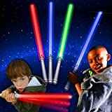 Windy City Novelties LED Assorted Colors Glow in The Dark Kids Light Sabers (12 Pack) Bulk