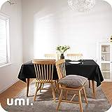 Amazon Brand - Umi Tischdecke Wasserabweisend Tischdecke Lotuseffekt Tischtücher 130x280 cm Schwarz - 2
