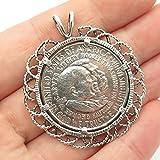 925 Sterling Silver Vintage 1952 Carver/Washington Half Dollar Coin Pendant TF-8777