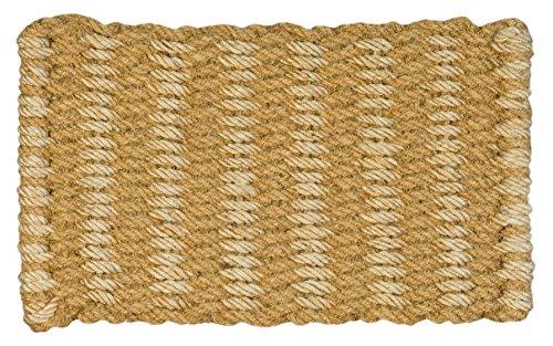 Jute & Co. - Felpudo de Cuerda Trenzada de Coco Natural y Yute (45 x 75 cm), Color Beige