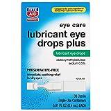 Rite Aid Artificial Tears Lubricant Eye Drops - 30 Vials | Single Use Preservative Free Eye Drops
