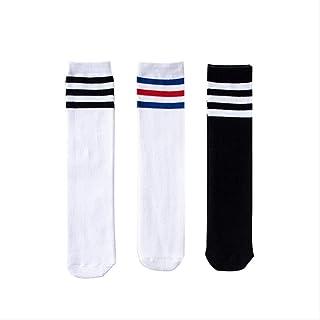 3 pares de calcetines para niños calcetines de tubo para niña calcetines largos de algodón