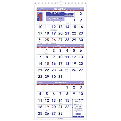 "AT-A-GLANCE Yearly Wall Calendar, January 2018 - December 2018, 24"" x 36"" (PM1228)"