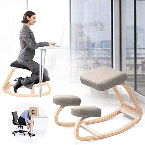 Kneeling Chair ZHJING Ergonomic Family Game Sewing Ergonomics Relieve Neck Spine Pain Sturdy Meditation Game Computer Studio