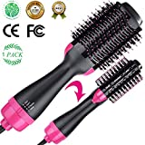 Ausale One-Step Hair Dryer & Volumizer Hot-Air Hair Brushes, Black