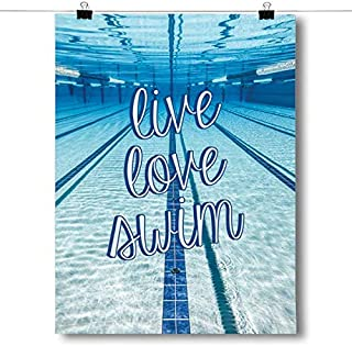 Inspired Posters - Live Love Swim Decorative Wall Art Poster - Modern Home Decor - Motivational Posters - UV Print 18 x 24 Poster