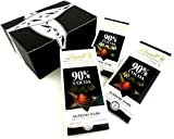 Lindt Excellence 90% Supreme Dark Chocolate, 3.5 oz Bars in a BlackTie Box (Pack of 3)