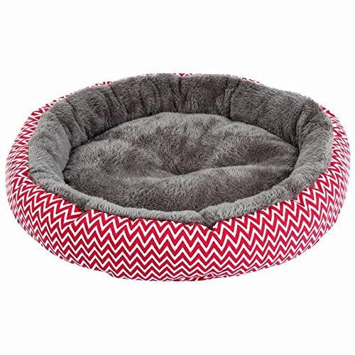 XYBB huisdierbed Pet Puppy Cat kussen coole slaapbank, 34*34cm, rood