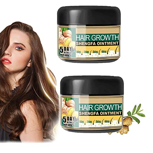 Ginger Cream for Hair Growth, Natural Hair Growth Ginger Cream, Basic Care Hair Regrowth Treatment, Ginger Hair Growth Serum Essence Oil, Hair Growth Serum for Hair Loss. (2PCS)
