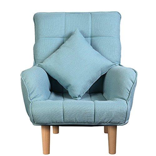 ZHANGRONG- Chaises simples de lecture de loisirs de sofa de chambre à coucher de chaise de sofa pour le salon de balcon -Tabouret de canapé (Couleur : Bleu)