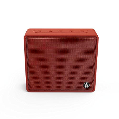 Hama Tragbarer Bluetooth Lautsprecher mit Micro-SD-Kartenslot (kabellose Box zur Musik-Wiedergabe über Smartphone/Tablet, MP3-Wiedergabe, Freisprechfunktion, AUX) Mobile Speaker Box rot