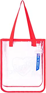 TENDYCOCO Clear Bag Summer Transparent Tote Jelly Color Storage Hologram Transparent Shoulder Bag for Beach Holiday Travel...