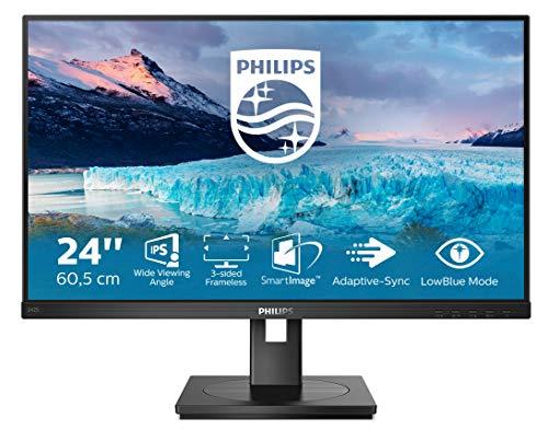 Philips 242S1AE 60 cm (23.8 Zoll) Monitor (DVI, HDMI, DisplayPort, 4ms Reaktionszeit, 1920x1080, 75 Hz, FreeSync) schwarz