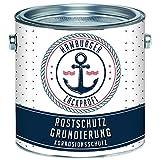 Rostschutz-Grundierung MATT Rotbraun Rostschutz-Farbe für Metall // Hamburger Lack-Profi (2,5 L)