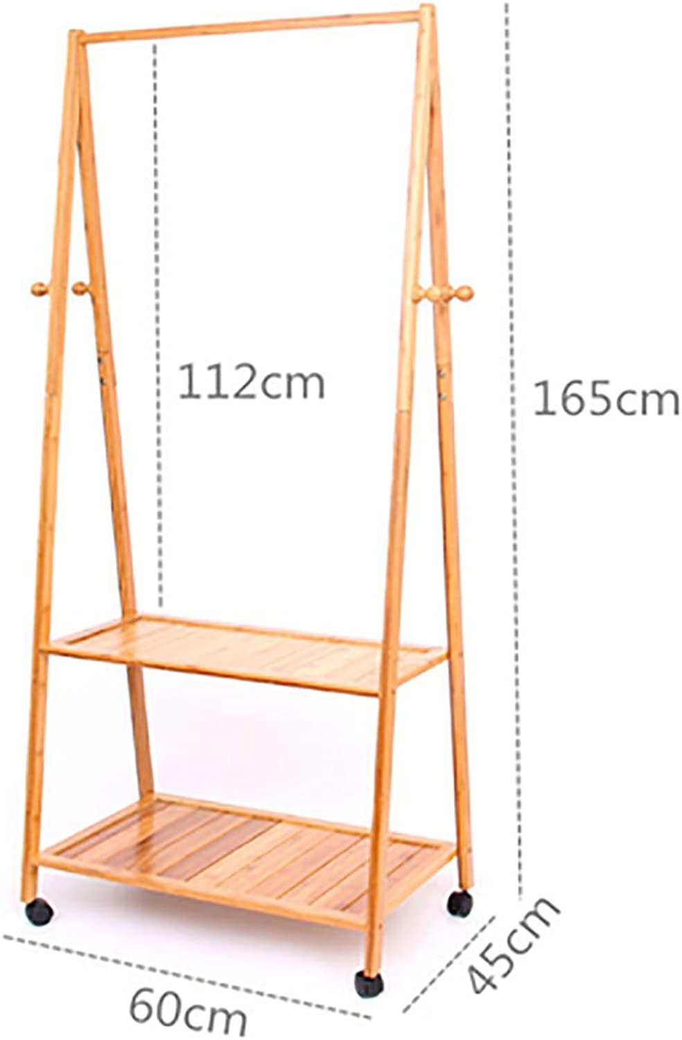 XJRHB Movable Bamboo Wood Coat Rack, 3 Styles (Size   C)