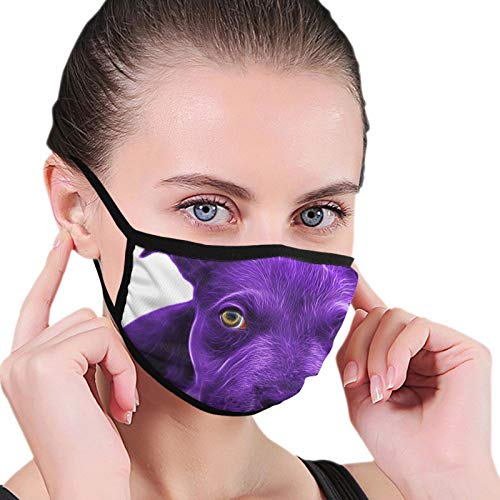 Bandana Balaclava Face Mouth Cover Mask, Purple Puppy Painting Neck Gaiter Face Shade