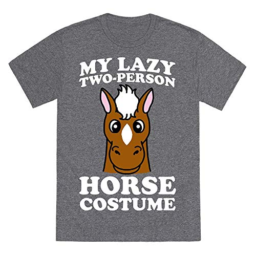 My Lazy Two-persoon Horse kostuum (kop) Mens Fashion Summer Cotton T-shirt