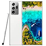 Unlocked Cell Phones with pen Note 20 5000mah Battery 4G/5G Android 10.0 Unlocked Smartphones 6.9 Inch HD 12GB Ram + 512GB Rom | Fingerprint Id and Facial Recognition | Mobile Gaming Smartphone |