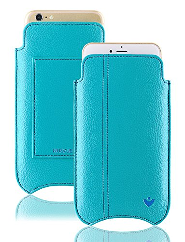 NueVue Faux Leather Premium Sleeve Wallet Case with Self Cleaning Technology for Apple iPhone 7 Plus - Blue