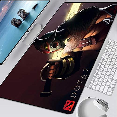JIACHOZI Alfombrillas Gaming Raton Juego Anime héroe Cuchillo 900×400×3mm Grande XXL Almohadilla para Mouse de Goma Juego para Computadora Tableta Mousepad con Borde Bloqueo de Borde