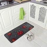 Kitchen Rugs Ladybug Rain Design Non-Slip Soft Kitchen Mats Bath Rug Runner Doormats Carpet for Home Decor, 39' X 20'