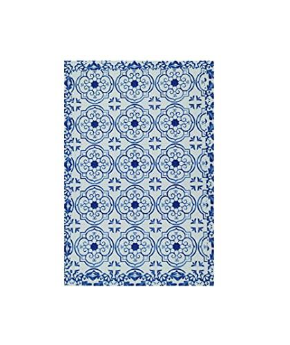 Manteles Individuales Lavables. Set de 6 Salvamanteles Individuales Anti Manchas. Resistentes al Calor, Antideslizantes, Antibacterianos y Fáciles de Limpiar (Mosaico Azul, 40_x_30_cm)