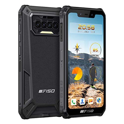 Téléphone Incassable IIIF150 B2021, Grande Batterie 8000mAh Smartphone Antichoc Étanche,Octa-Core 6GO RAM+64GOROM, Corning Gorilla Écran 5.86'' HD+, Quatre Caméras 13MP+8MP, Android 10,Dual SIM 4G,NFC