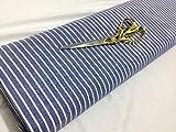 CheLatest Fabrics UK L/Gewicht, blau-weiß gestreift,
