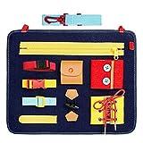 Neborn Juguete de educación temprana para bebés Habilidades de Vida básicas Tablero de enseñanza del Vestido Botón con Cordones Juguete de Aprendizaje para bebés Montessori para niños