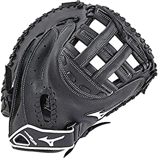 Mizuno Prospect Gxs102 Fastpitch Softball Catcher's Mitts, Size 32.5, Black (Left hand throw )