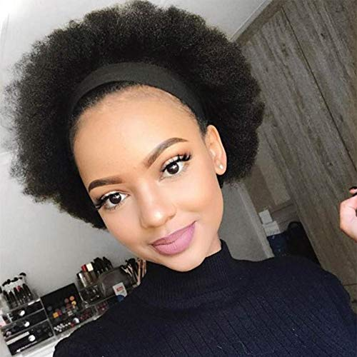Semmely Short Afro Kinky Curly 4 X4 Lace Closure Wigs Brazilian Human Hair Curly Bob Wigs 150% Density Lace Front Wigs Natural Color