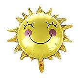 WOVELOT Smile Globos De Sol LáMina De Globos para Decoraciones De Feliz Cumplea?os (Amarillo) 65 x 65 Cm