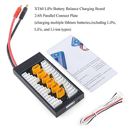 Crazepony-UK Lipo Cargador Charger Battery Balance Charging Board XT60 Connector 2-6S Batterie Parallel Connect Plate by
