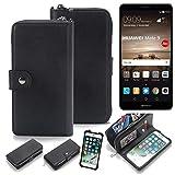 K-S-Trade 2in1 Handyhülle Für Huawei Mate 9 (Dual-SIM) Schutzhülle und Portemonnee Schutzhülle Tasche Handytasche Hülle Etui Geldbörse Wallet Bookstyle Hülle Schwarz (1x)
