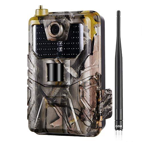 YCXYC 2G Wildkamera,HD 1080P 20MP Jagdkamera,MMS SMS Beutekameras,IP65 wasserdichte 44PCS LED Infrarot-Nachtsicht Bis Zu 20M, Triggerzeit 0.3S,Mit 2,0LCD-Display Waldjagdkamera Mit 16G Speicherkarte