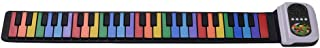 Lixada 49-Key Portable Roll-Up Piano Silicon Electronic Keyboard Colorful Keys Built-in Speaker Musical Toy for Children Kids