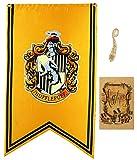 birthday decor for harry flag potter Wand Banner, gryffindor | hufflepuff | ravenclaw | slytherin Haus-Dekor-Flagge (70X125CM)