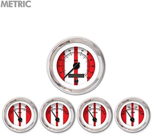 Aurora Popular overseas Instruments 5750 Cobra Red Mode Financial sales sale Set 5-Gauge Black Metric