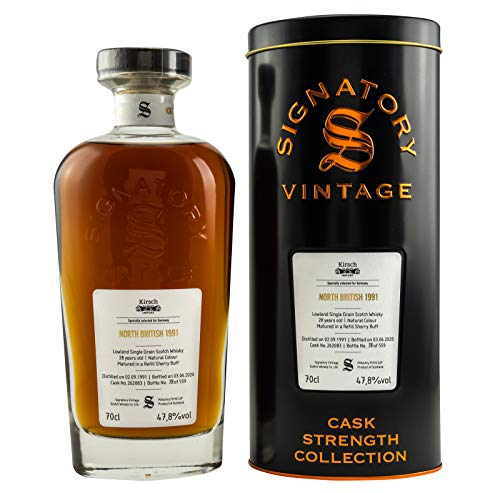 NORTH BRITISH 1991-28 Jahre - SHERRY CASK - Signatory Vintage Cask Strength Whisky Collection