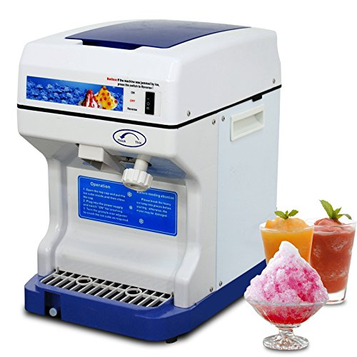 Super Deal PRO Commercial Ice Shaver Snow Cone Maker Ice Shaving Machine Ice Crusher, 1400 RMS, 265lbs 250W