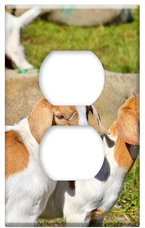 Switch Plate Outlet Cover Goat Prima Donna Geiss Little Kids Pasture Meadow 7