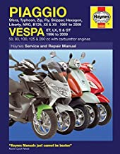Piaggio and Vespa Scooters (with Carburettor Engines) Service and Repair Manual: 1991 to 2009 (Service & repair manuals) by Matthew Coombs (7-Nov-2014) Paperback