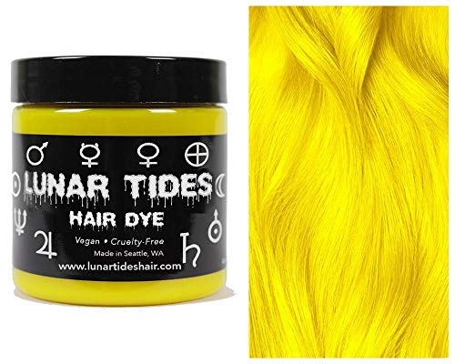Lunar Tides Hair Dye - Citrine Bright Yellow Semi-Permanent Vegan Hair Color (4 fl oz / 118 ml)