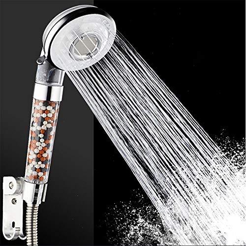 Lamcomt Ducha de mano con 6 funciones, filtro de vitamina C, baño de alta presión, cabezal de ducha de mano (tamaño del cabezal de ducha: 4 pulgadas)