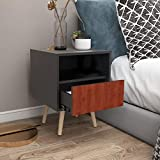 <span class='highlight'>Vanimeu</span> Furniture <span class='highlight'>Wooden</span> <span class='highlight'><span class='highlight'>Bedside</span></span> <span class='highlight'>Table</span> with 1 Drawer Side Storage Cabinet for Bedroom Black