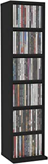 Festnight Estante para CDs Soporte para DVDs de Aglomerado Negro 21X16X88 Cm Estantería de Libros Estantería Librería, Est...