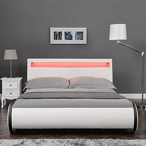 Corium Elegantes Bett Gepolstert in Kunstleder...