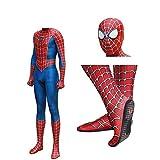 HEROMEN Costume Remidoni Spiderman Classico con Imbottiture per Piedi Calzamaglia Cosplay Halloween - Abbigliamento per Bambini Adulti,Men-XXXL