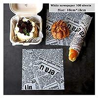 西渓 アクセサリー包装ベーキングペーパー食品包装紙パンのサンドイッチフライドポテト 羊皮紙 (Color : B6.100 sheets)